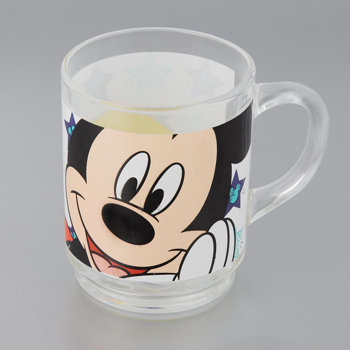 Кружка Luminarc Oh Minnie, 250 мл115510Кружка Luminarc Oh Minnie изготовлена из упрочненного стекла и оформлена ярким рисунком. Такая кружка прекрасно подойдет для горячих и холодных напитков. Она дополнит коллекцию вашей кухонной посуды и будет служить долгие годы. Диаметр кружки (по верхнему краю): 7 см.