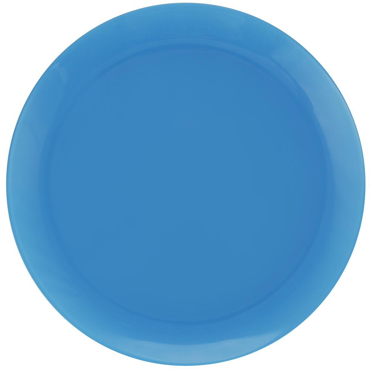 Тарелка обеденная Luminarc Arty Azur, диаметр 26 см115510Обеденная тарелка Luminarc Arty Azur, изготовленная из высококачественного стекла, имеет изысканный внешний вид. Яркий дизайн придется по вкусу и ценителям классики, и тем, кто предпочитает утонченность. Тарелка Luminarc Arty Azur идеально подойдет для сервировки стола и станет отличным подарком к любому празднику.Можно использовать в микроволновой печи и холодильнике, а также мыть в посудомоечной машине.Диаметр тарелки по верхнему краю: 26 см.