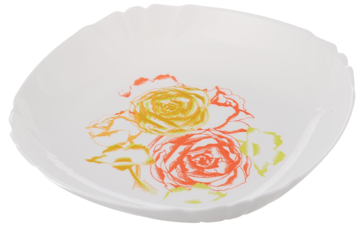 Тарелка глубокая Luminarc Amaria, диаметр 21 см115010Глубокая тарелка Luminarc Amaria выполнена изударопрочного стекла и оформлена в классическом стиле.Изделие сочетает в себе изысканный дизайн с максимальнойфункциональностью. Она прекрасно впишется винтерьер вашей кухни и станет достойным дополнениемк кухонному инвентарю. Тарелка Luminarc Amaria подчеркнет прекрасный вкус хозяйкии станет отличным подарком. Диаметр (по верхнему краю): 21 см.Объем тарелки: 450 мл (до самого края).