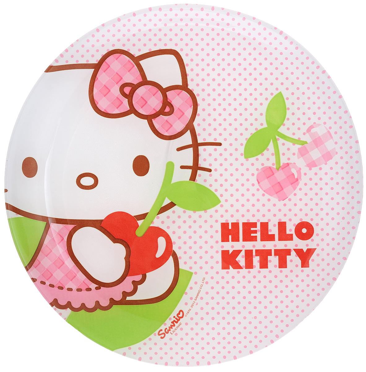 Тарелка десертная Luminarc Hello Kitty Cherries, диаметр 20,5 см54 009312Десертная тарелка Luminarc Hello Kitty Cherries, изготовленная из ударопрочного стекла, имеет изысканный внешний вид. Такая тарелка прекрасно подходит как для торжественных случаев, так и для повседневного использования. Идеальна для подачи десертов, пирожных, тортов и многого другого. Она прекрасно оформит стол и станет отличным дополнением к вашей коллекции кухонной посуды. Диаметр тарелки (по верхнему краю): 20,5 см.