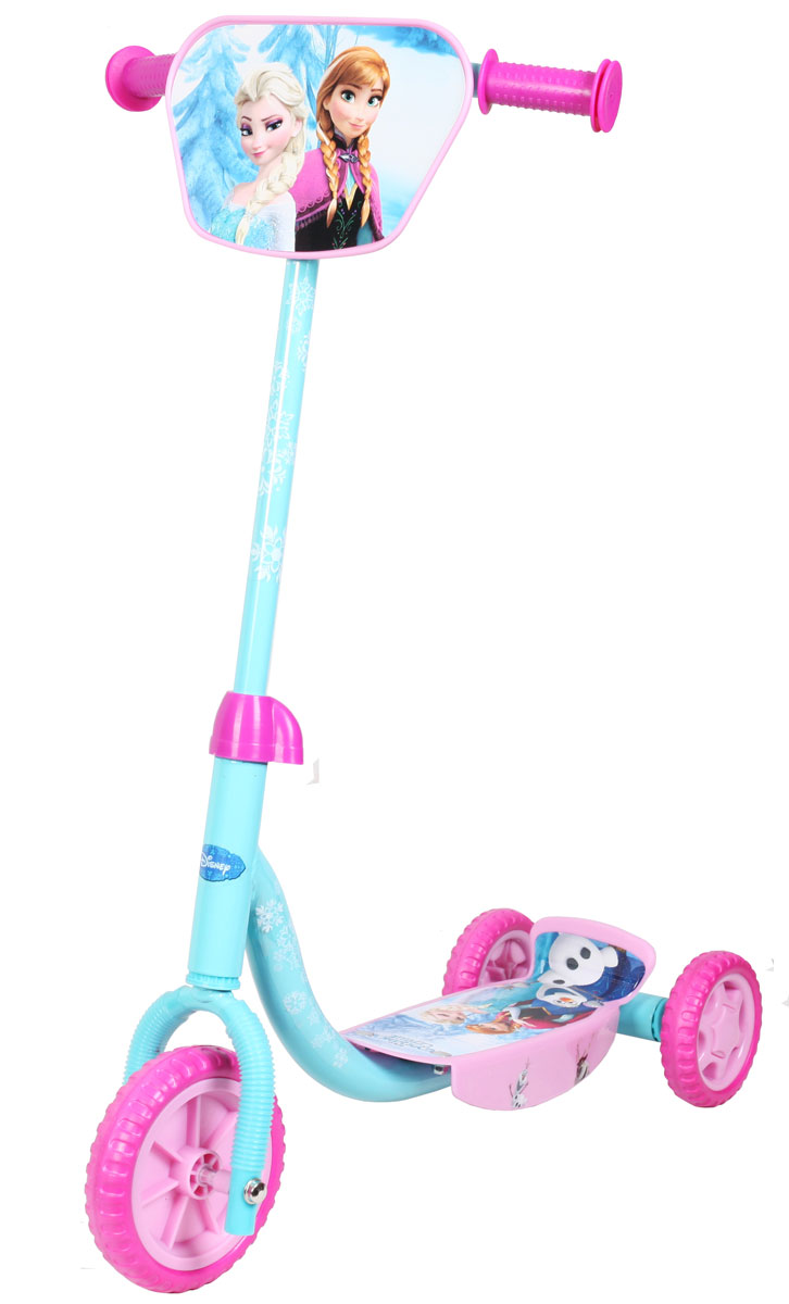 Disney Frozen Самокат детский трехколесныйMHDR2G/AСамокат Disney Холодное сердце, 3-х колесный. EVA колеса, декоративная панель