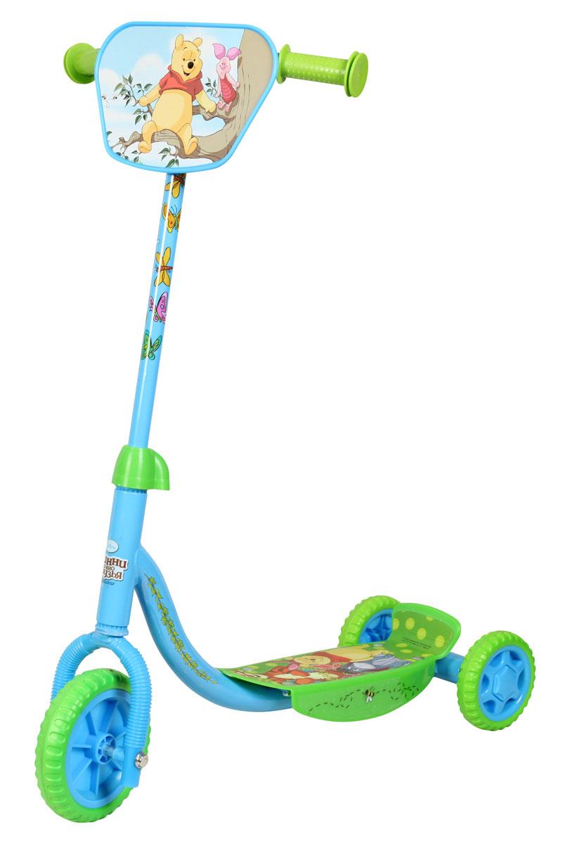 Disney Самокат детский трехколесный Винни-ПухGESS-132С трехколесным самокатом Винни-Пух ваш ребенок сможет укрепить здоровье, просто наслаждаясь прогулкой. Катание на самокате развивает координацию, улучшает кровообращение и способствует улучшению координации ребенка.