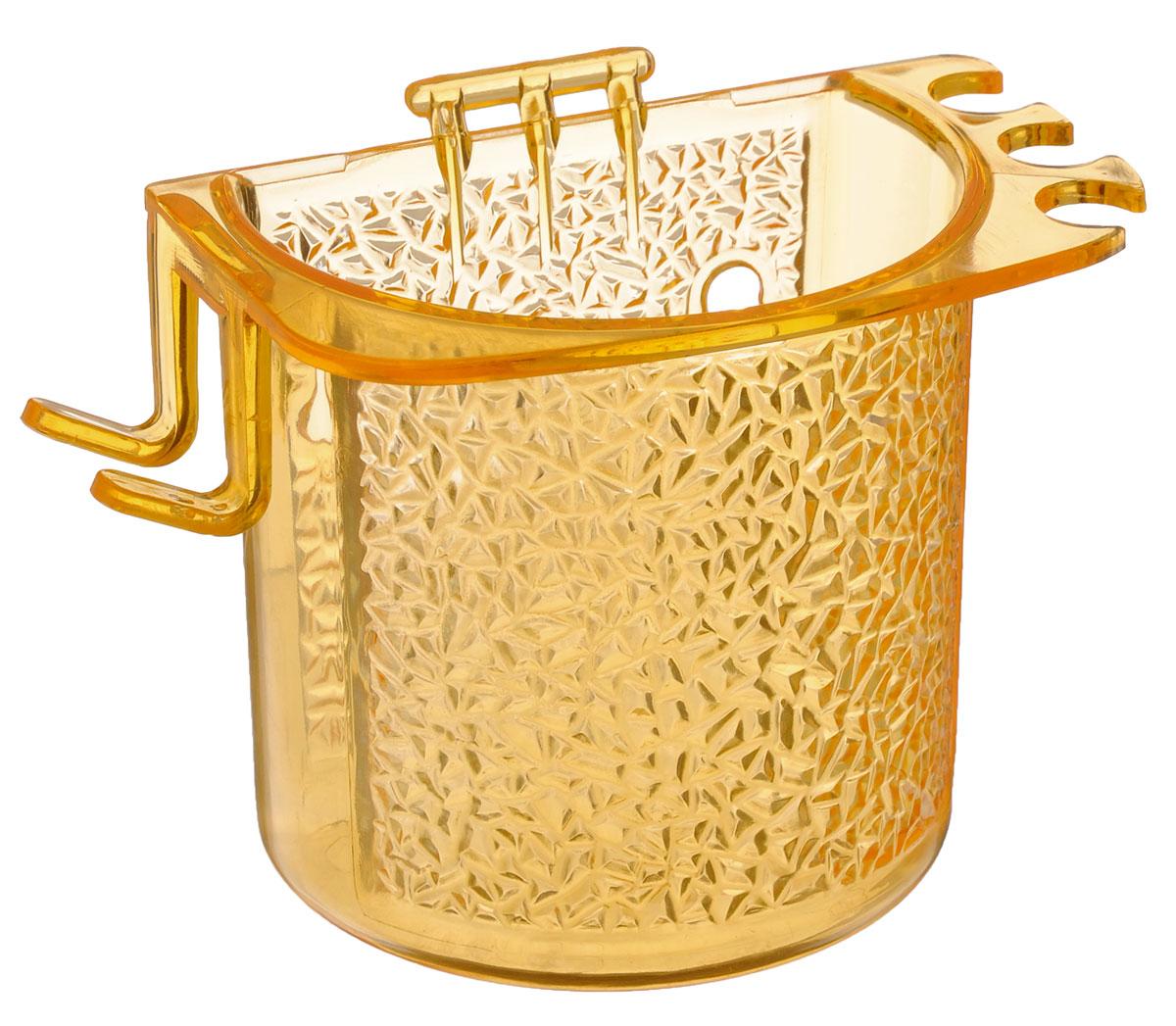 Стакан для ванной Fresh Code, на липкой основе, цвет: оранжевый68/5/3Стакан для ванной комнаты Fresh Code выполнен из ABS пластика. Крепление на липкой основе многократного использования идеально подходит для гладкой поверхности. С оборотной стороны изделие оснащено двумя отверстиями для удобного размещения на стене.В стакане удобно хранить зубные щетки, пасту и другие принадлежности. Аксессуары для ванной комнаты Fresh Code стильно украсят интерьер и добавят в обычную обстановку яркие и модные акценты. Стакан идеально подойдет к любому стилю ванной комнаты.