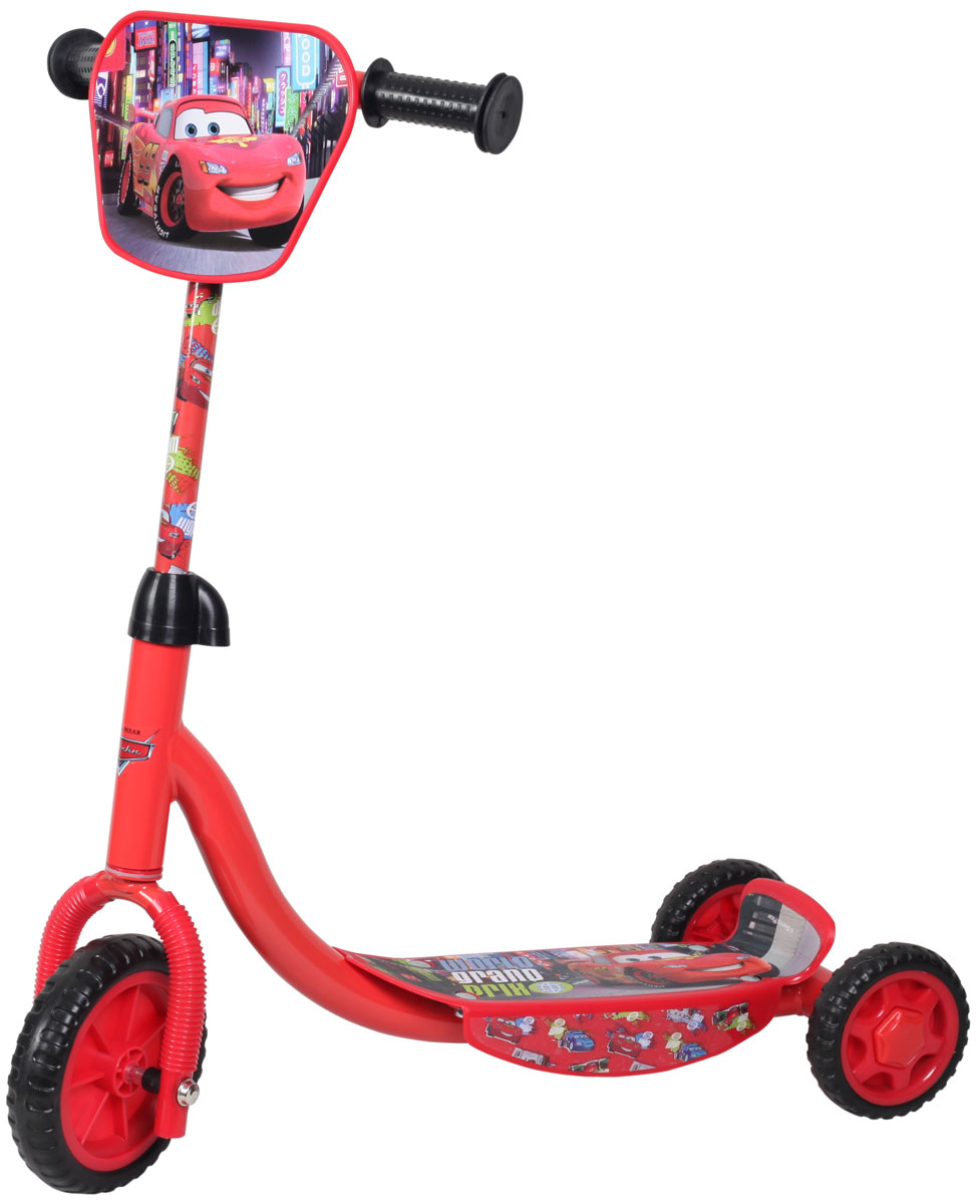 Disney Самокат детский трехколесный ТачкиASS-02 S/MСамокат Disney Тачки, 3-х колесный. EVA колеса, декоративная панель