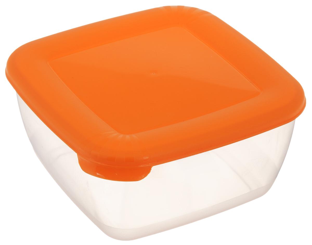 Контейнер Полимербыт Лайт, цвет: прозрачный, оранжевый, 1,5 лС543_прозрачный, оранжевыйКонтейнер Полимербыт Лайт квадратной формы, изготовленный из прочного полипропилена, предназначен специально для хранения пищевых продуктов. Крышка легко открывается и плотно закрывается.Контейнер устойчив к воздействию масел и жиров, легко моется. Прозрачные стенки позволяют видеть содержимое. Контейнер имеет возможность хранения продуктов глубокой заморозки, обладает высокой прочностью. Можно мыть в посудомоечной машине. Подходит для использования в микроволновых печах.