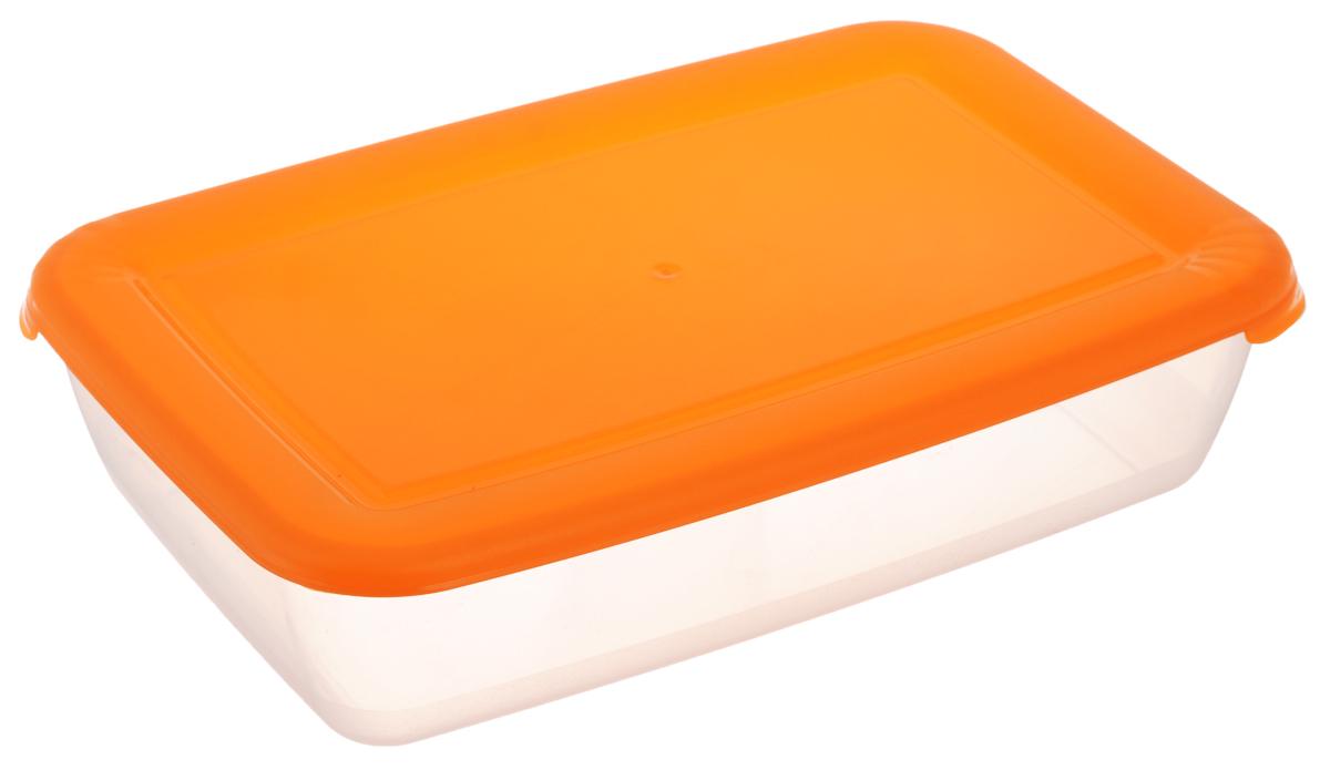 Контейнер Полимербыт Лайт, цвет: прозрачный, оранжевый, 1,9 л810023Контейнер Полимербыт Лайт прямоугольной формы, изготовленный из прочного полипропилена, предназначен специально для хранения пищевых продуктов. Крышка легко открывается и плотно закрывается.Контейнер устойчив к воздействию масел и жиров, легко моется. Прозрачные стенки позволяют видеть содержимое. Контейнер имеет возможность хранения продуктов глубокой заморозки, обладает высокой прочностью. Можно мыть в посудомоечной машине. Подходит для использования в микроволновых печах.