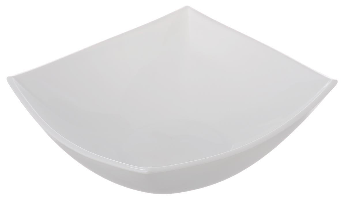 Салатник Luminarc Quadrato White, 16,5 х 16,5 см115510Салатник Luminarc Quadrato White, выполненный из ударопрочного стекла в духе азиатских традиций, придется по вкусу и ценителям классики, и тем, кто предпочитает утонченность и изысканность. Салатник Luminarc Quadrato White идеально подойдет для сервировки стола и станет отличным подарком к любому празднику.Размер салатника (по верхнему краю): 16,5 х 16,5 см.