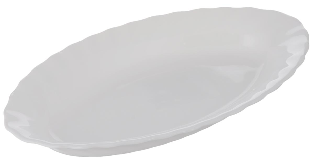 Селедочница Luminarc Trianon, 22 х 12,5 см115010Селедочница Luminarc Trianon изготовлена из высококачественного стекла. Изделие идеально подходит для сервировки сельди в нарезке, а также разных видов закусок. Такая оригинальная селедочница станет изысканным украшением вашего праздничного стола.Размер (по верхнему краю): 22 х 12,5 см.