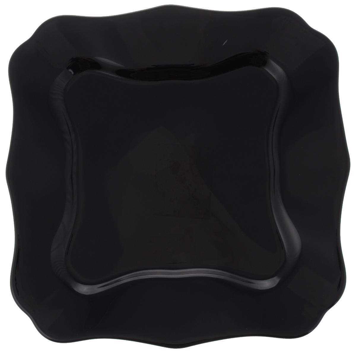 Тарелка обеденная Luminarc Authentic Black, 26 х 26 см54 009312Обеденная тарелка Luminarc Authentic Black, изготовленная из высококачественного стекла, имеет изысканный внешний вид. Яркий дизайн придется по вкусу и ценителям классики, и тем, кто предпочитает утонченность. Тарелка Luminarc Authentic Black идеально подойдет для сервировки стола и станет отличным подарком к любому празднику.Размер тарелки (по верхнему краю): 26 х 26 см.