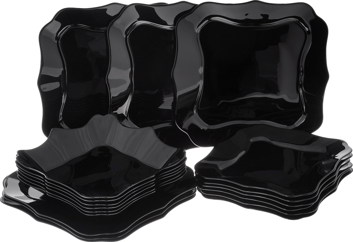 Набор столовой посуды Luminarc Authentic, 18 предметов24875Набор Luminarc Authentic состоит из 6 суповых тарелок, 6 обеденных тарелок, 6 десертных тарелок. Изделия выполнены из ударопрочного стекла, имеют яркий дизайн и необычную форму. Посуда отличается прочностью, гигиеничностью и долгим сроком службы, она устойчива к появлению царапин и резким перепадам температур. Такой набор прекрасно подойдет как для повседневного использования, так и для праздников или особенных случаев. Набор столовой посуды Luminarc Authentic - это не только яркий и полезный подарок для родных и близких, а также великолепное дизайнерское решение для вашей кухни или столовой. Можно мыть в посудомоечной машине и использовать в микроволновой печи. Размер суповой тарелки: 22,5 х 22,5 см. Высота суповой тарелки: 4 см.Размер обеденной тарелки: 26 х 26 см. Высота обеденной тарелки: 1,7 см. Размер десертной тарелки: 21 х 21 см. Высота десертной тарелки: 1,5 см.