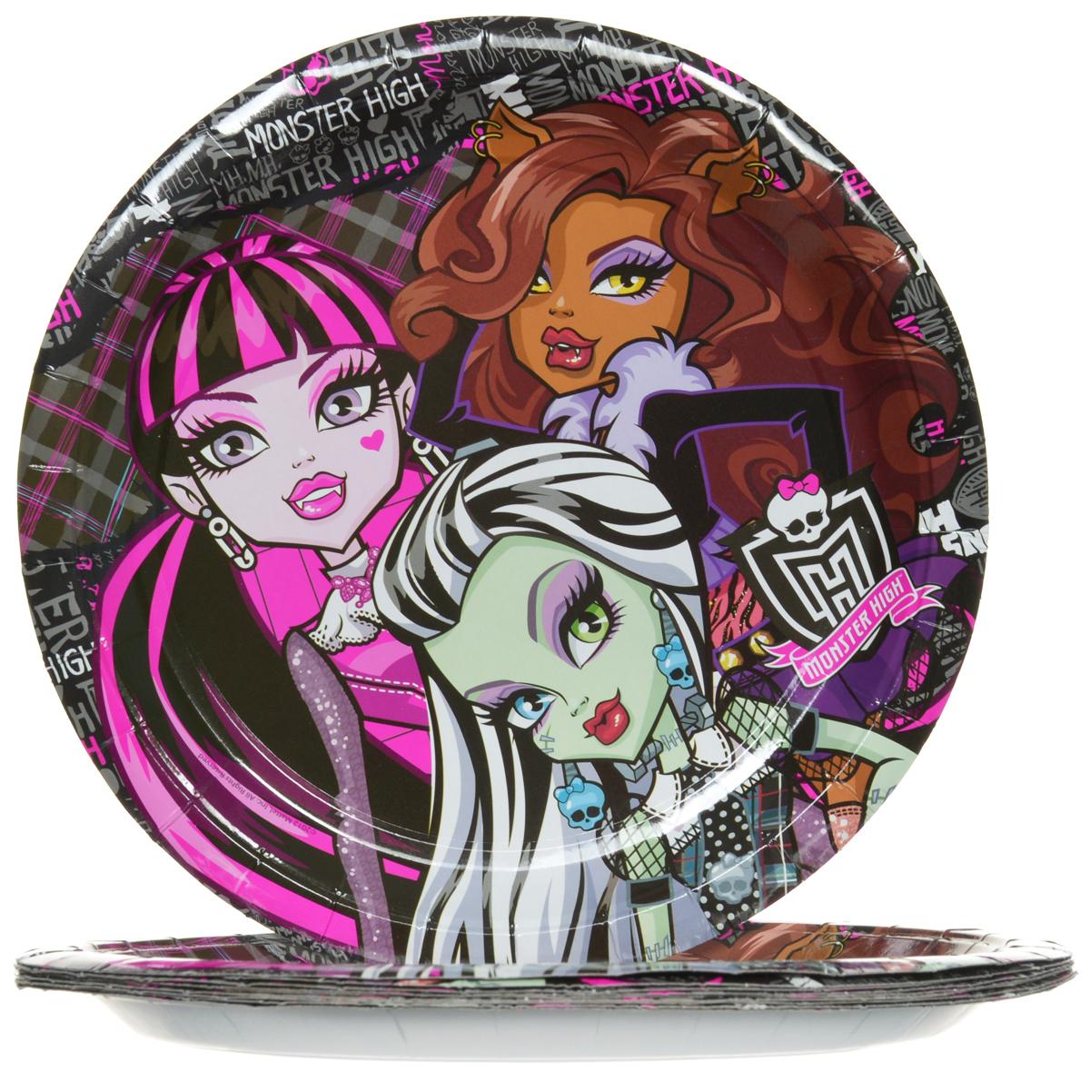 Monster High Набор одноразовых тарелок диаметр 23 см 10 шт