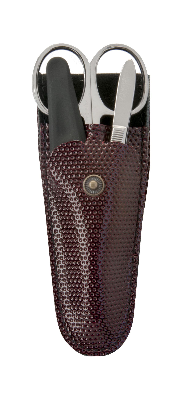 Zinger Маникюрный набор zMs Z-3 S-PVCSC-FM20101Ман. набор 3 предмета (ножницы кутикульные, пилка алмазная, пинцет). Чехол эко.кожа. Цвет инструментов - глянцевое серебро. Оригинальная фирменная коробка. Уважаемые клиенты! Обращаем ваше внимание, что цвет футляра может меняться в зависимости от прихода на склад.