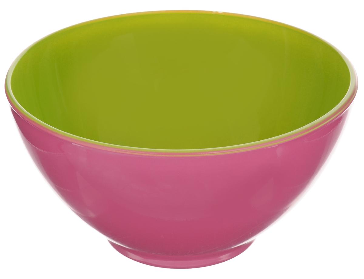 Пиала Luminarc Spring Break, цвет: розовый, салатовый, 500 мл115510Пиала Luminarc Spring Break изготовлена из высококачественного стекла. Изделие прекрасно подойдет для салатов, супа или мороженого. Пиала дополнит коллекцию кухонной посуды и будет служить долгие годы. Можно мыть в посудомоечной машине. Объем пиалы: 500 мл. Диаметр пиалы (по верхнему краю): 13 см. Высота пиалы: 7 см.
