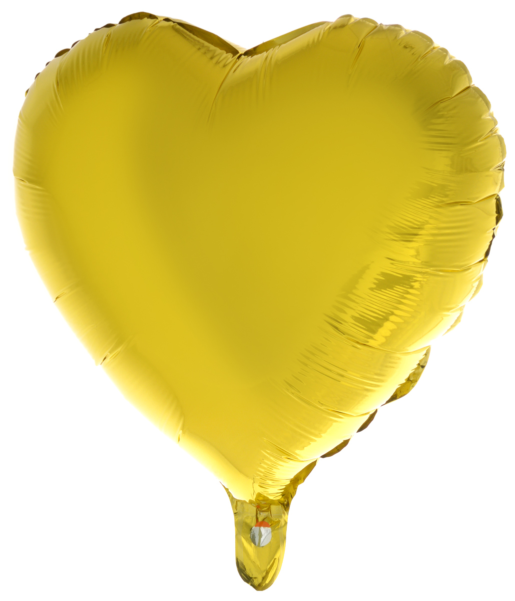 Action! Шар фольгированный Сердце цвет золотистый