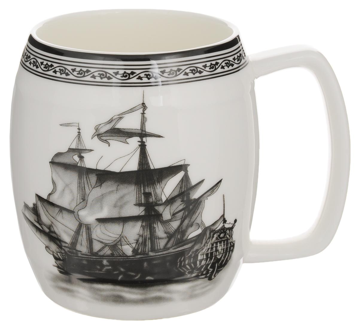 Кружка Elan Gallery Корабль, 700 мл530022Кружка Elan Gallery Корабль, изготовленная из высококачественной керамики, подходит для тех, кто предпочитает большие кружки и для любителей чая, кофе и пенных напитков.Изделие сочетает в себе изысканный дизайн с максимальной функциональностью. Такая кружка станет оригинальным подарком для ваших родных и близких. Диаметр кружки (по верхнему краю): 8,8 см.Высота кружки: 11,5 см.