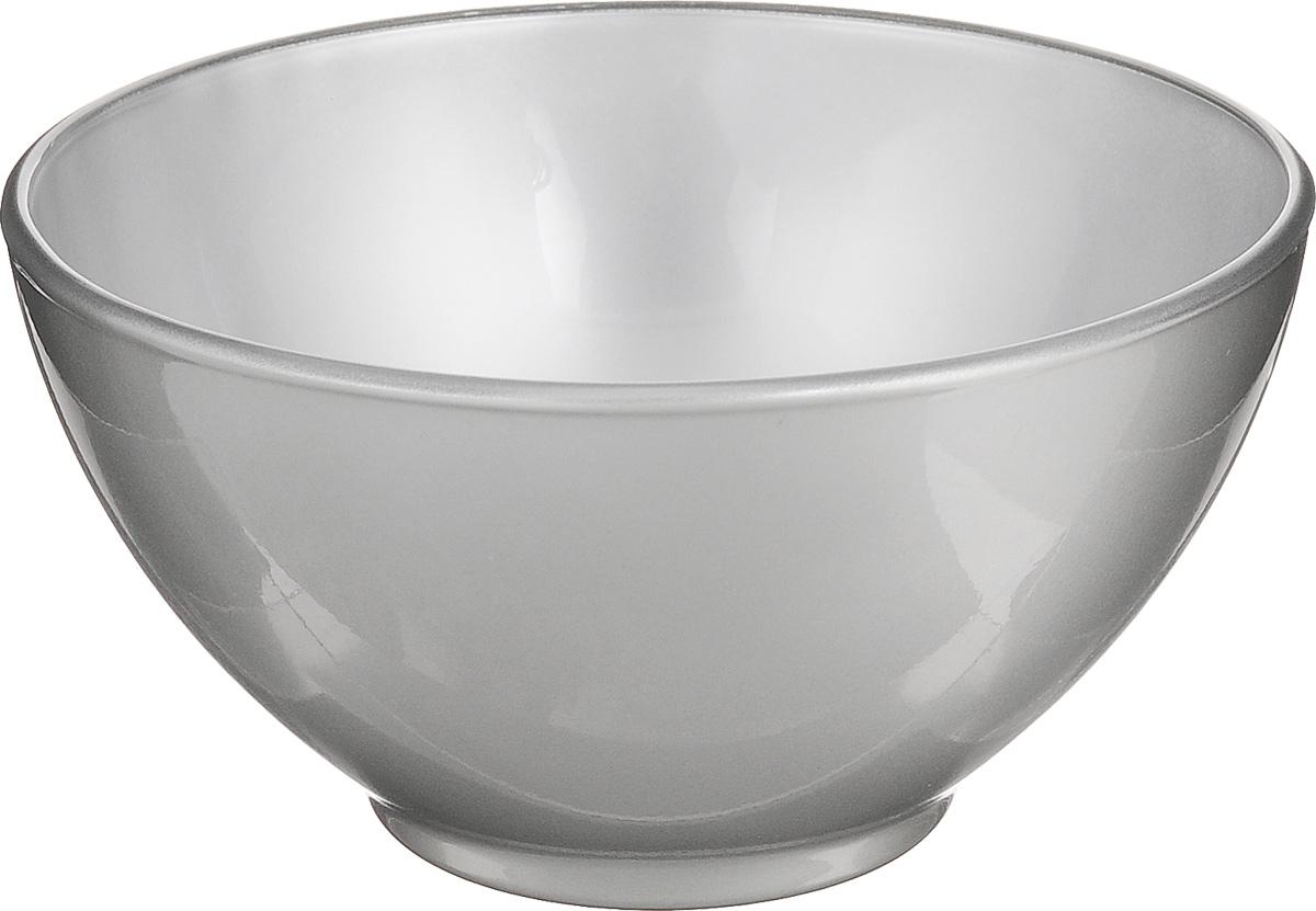 Пиала Luminarc Flashy Colors, цвет: серебристый, 500 млH5835Пиала Luminarc Flashy Colors, изготовленная из ударопрочного стекла, прекрасно подойдет для подачи салата, супа или мороженого. Благодаря лаконичному дизайну, такая пиала станет бесспорным украшением вашего стола. Она дополнит коллекцию кухонной посуды и будет служить долгие годы. Диаметр пиалы (по верхнему краю): 13 см. Высота пиалы: 7 см.