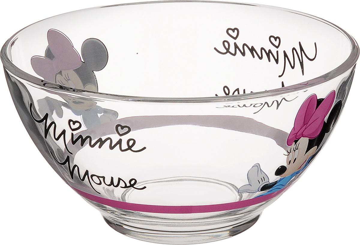Пиала Luminarc Oh Minnie, 500 мл115510Пиала Luminarc Oh Minnie изготовлена из ударо прочненного стекла и оформлена ярким изображением. Изделие прекрасно подойдет для салатов, супа или мороженого. Благодаря оригинальному дизайну, такая пиала понравится вашим детям. Она дополнит коллекцию кухонной посуды и будет служить долгие годы. Объем пиалы: 500 мл. Диаметр пиалы (по верхнему краю): 13 см. Высота пиалы: 7 см.