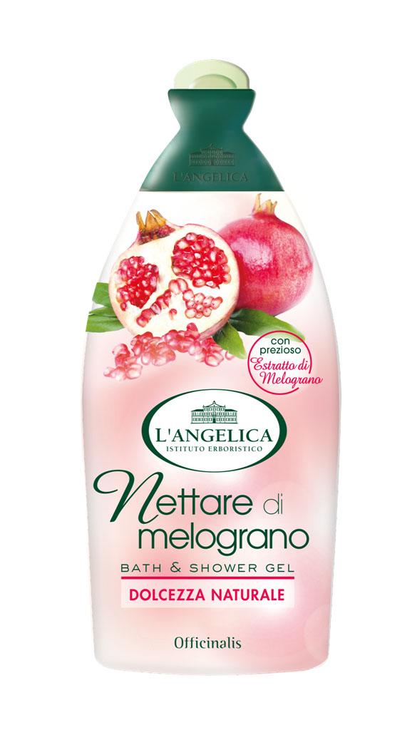 Langelica (8726) Гель для душа и ванны с нектаром граната, 500 млFS-00897LANGELICA OFFICINALIS. Гель для душа и ванны с нектаром граната. Гранат с древних времен считался символом вечной молодости.Этот фрукт содержит минералы, витамины, полифенолы, антиоксиданты, борется со старением кожи. Новый гель, благодаря нектару граната, доставит вашей коже истинное удовольствие, сделает ее сияющей и шелковистой, оставит на ней приятный аромат.