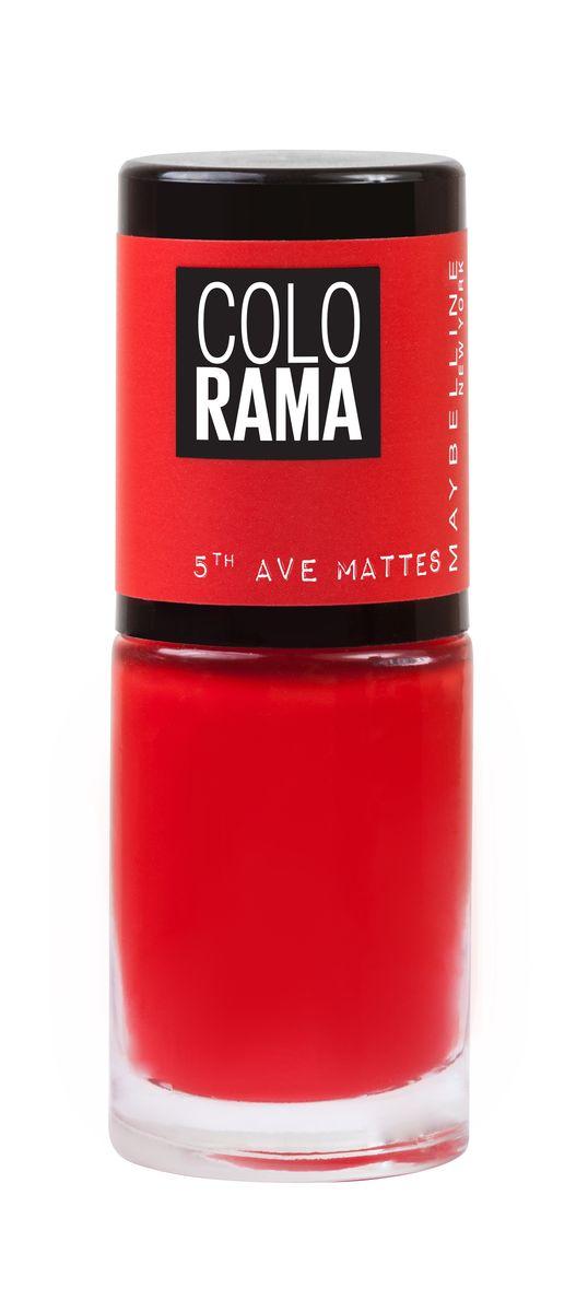 Maybelline New York Лак для ногтей Colorama Коллекция 5th Ave Matte, оттенок 455, Коралл, 7 млWS 7064Новая коллекция матовых лаков Colorama