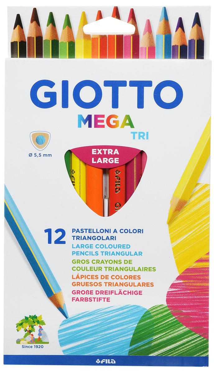 Цветные карандаши Glotto Mega-Tri непременно понравятся вашему юному художнику. Набор включает в себя 12 ярких насыщенных цветных карандаша утолщенной треугольной формы. Золотое нанесение на гранях карандаша - отличительная черта всей линейки. Идеально подходят для детских садов и школьников младших классов. Карандаши изготовлены из сертифицированного дерева, экологически чистые, имеют прочный неломающийся грифель, не требующий сильного нажатия, легко затачиваются. Порадуйте своего ребенка таким восхитительным подарком!