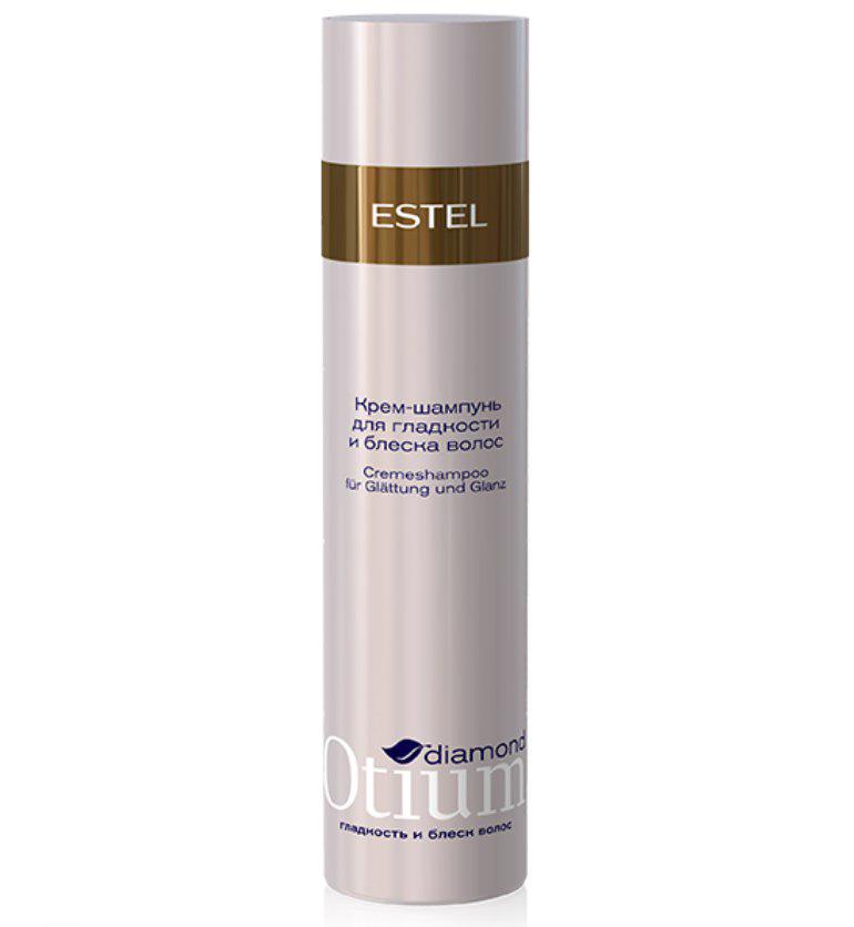 Estel Otium Diamond Крем-шампунь для гладкости и блеска волос 250 млOTM.24Estel Otium Diamond Крем - шампунь для гладкости и блеска волос. Kрем - шампунь с комплексом D & М бережно очищает волосы, обеспечивает кристальное сияние и зеркальное разглаживание даже самым непослушным волосам, наполняет их глянцевым блеском.