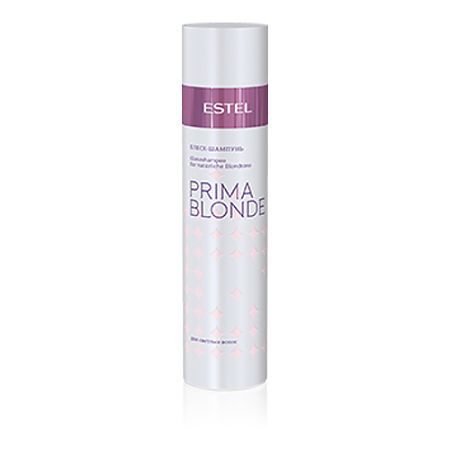 Estel Prima Blonde - Блеск-шампунь для светлых волос 250 мл1248лпТип волос: Светлые натуральные и окрашенные Блеск-шампунь мягко очищает волосы и подчеркивает красоту светлых оттенков. Волосы натуральные или окрашенные? Блеск-шампунь сглаживает различия: волосы оттенка блонд, независимо от того, были они окрашены или нет, наполняются здоровым солнечным сиянием! Система Nаturаl Peаrl с пантенолом и кератином заботится о волосах, способствуя восстановлению их структуры и наделяя мягкостью.Результат: Кератин – придает волосам здоровый и ухоженный вид, насыщает блеском Пантенол – восстанавливает и увлажняет волосы.