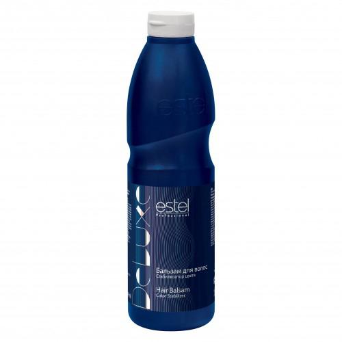 Estel Curex De Luxe Бальзам стабилизатор цвета 1000 млFS-00897Estel Curex De Luxe Бальзам стабилизатор цвета для окрашенных волос продлевает стойкость окраски, питает и восстанавливает окрашенные волосы, укрепляет структуру.Содержит природные биополимеры, кератиновый комплекс и масло персика. Делает волосы упругими, свежими и шелковистыми. Придает блеск.
