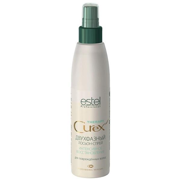 Estel Curex Therapy Двухфазный лосьон-спрей для восстановления волос 200 млFS-00897Estel Curex Therapy Двухфазный лосьон - спрей для восстановления волос. Специальная формула восстанавливает естественный уровень pH, закрывает кутикулу, выравнивает и уплотняет структуру волос. Содержит масло авокадо и кератин, делает волосы гладкими, блестящими и послушными. Прекрасно увлажняет и кондиционирует волосы. Волосы выглядят блестящими и сильными.