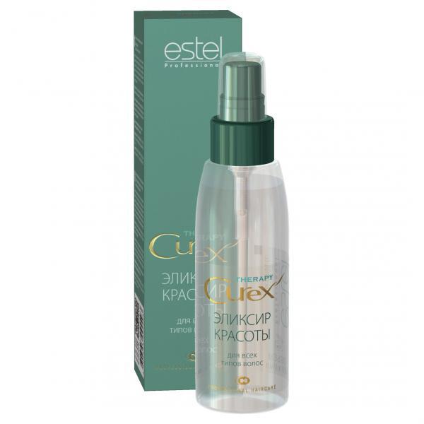 Estel Curex Therapy Эликсир красоты для всех типов волос 100 млFS-00897Estel Curex Therapy Эликсир красоты для все типов волос. Мгновенно преображает волосы, придает им красивый, ухоженный вид. Содержит аргановое масло и витамин Е, обеспечивающие увлажнение, питание, мягкость и блеск волос. Восстанавливает и укрепляет поврежденные волосы, облегчает расчесывание.