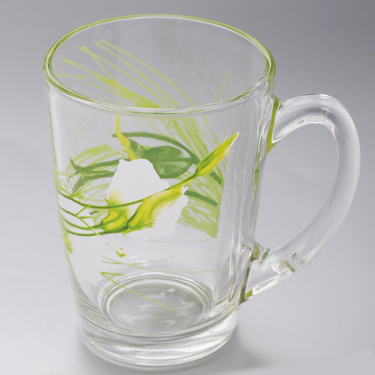 Кружка Luminarc Sofiane Green, 320 мл391602Кружка Luminarc Sofiane Green изготовлена из упрочненного стекла. Такая кружка прекрасно подойдет для горячих и холодных напитков. Она дополнит коллекцию вашей кухонной посуды и будет служить долгие годы. Диаметр кружки (по верхнему краю): 8 см.