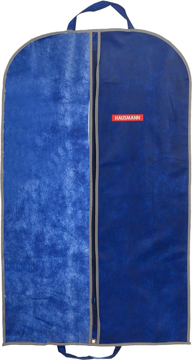 Чехол для одежды Hausmann, подвесной, с прозрачной вставкой, цвет: синий, 60 х 100 смCLP446Подвесной чехол для одежды Hausmann на застежке-молнии выполнен из высококачественного нетканого материала. Чехол снабжен прозрачной вставкой из ПВХ, что позволяет легко просматривать содержимое. Изделие подходит для длительного хранения вещей.Чехол обеспечит вашей одежде надежную защиту от влажности, повреждений и грязи при транспортировке, от запыления при хранении и проникновения моли. Чехол обладает водоотталкивающими свойствами, а также позволяет воздуху свободно поступать внутрь вещей, обеспечивая их кондиционирование. Это особенно важно при хранении кожаных и меховых изделий.Чехол для одежды Hausmann создаст уютную атмосферу в гардеробе. Лаконичный дизайн придется по вкусу ценительницам эстетичного хранения и сделают вашу гардеробную изысканной и невероятно стильной.Размер чехла (в собранном виде): 60 х 100 см.