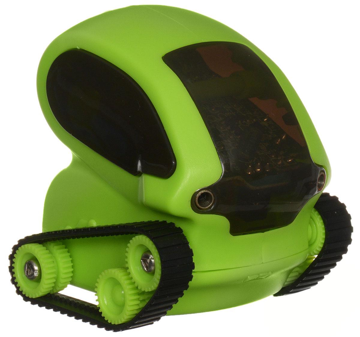 DeskPets Микро-робот на радиоуправлении Танкбот цвет зеленый