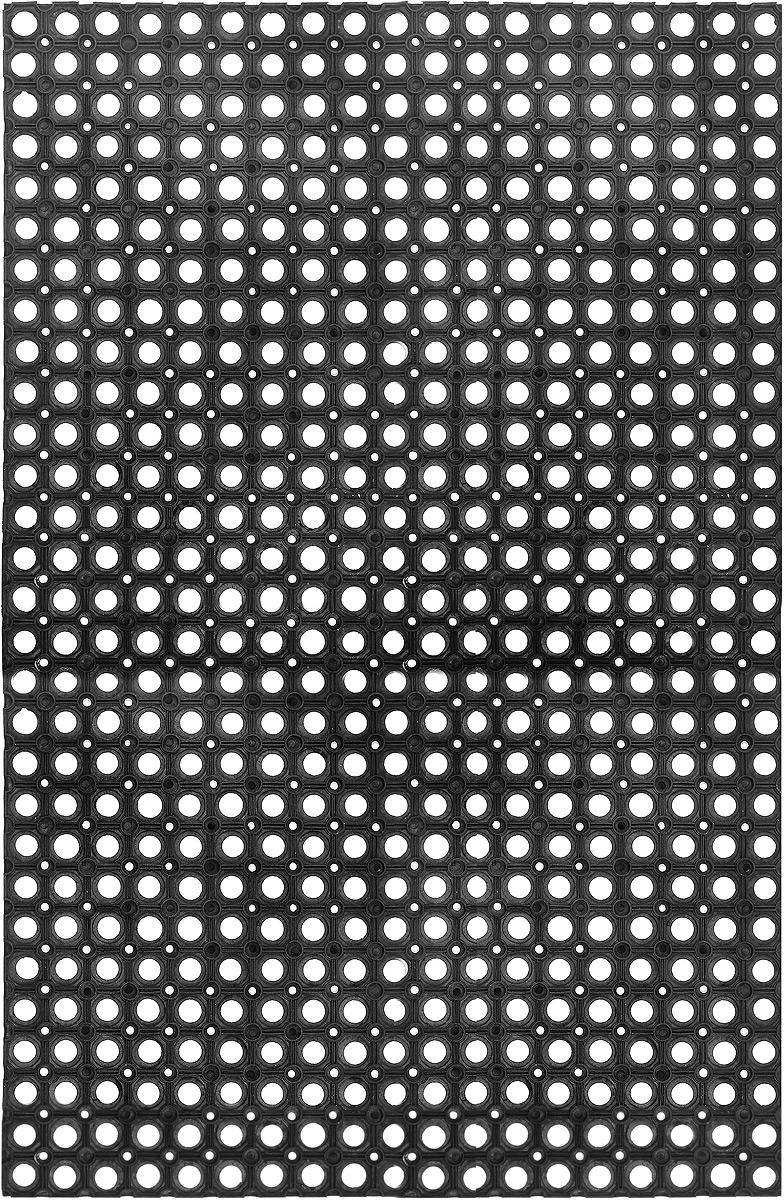 Коврик придверный SunStep, грязесборный, цвет: черный, 120 х 80 х 2,2 см547856Придверный коврик SunStep изготовлен из прочной и долговечной резины. Конструкция коврика имеет специальные ребра, которые помогают более эффективно удалять грязь с обуви, а отверстия в конструкции удаляют излишки воды. Придверный коврик SunStep надежно защитит помещение от уличной пыли и грязи.