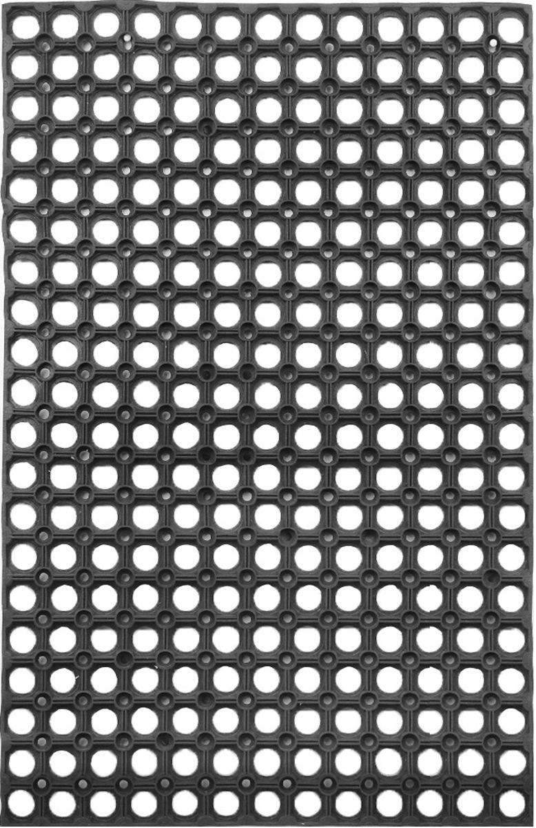 Коврик придверный SunStep, грязесборный, 80 х 50 смU210DFПридверный коврик SunStep изготовлен из прочной и долговечной резины. Конструкция коврика имеет специальные ребра, которые помогают более эффективно удалять грязь с обуви, а отверстия в конструкции удаляют излишки воды. Придверный коврик SunStep надежно защитит помещение от уличной пыли и грязи.