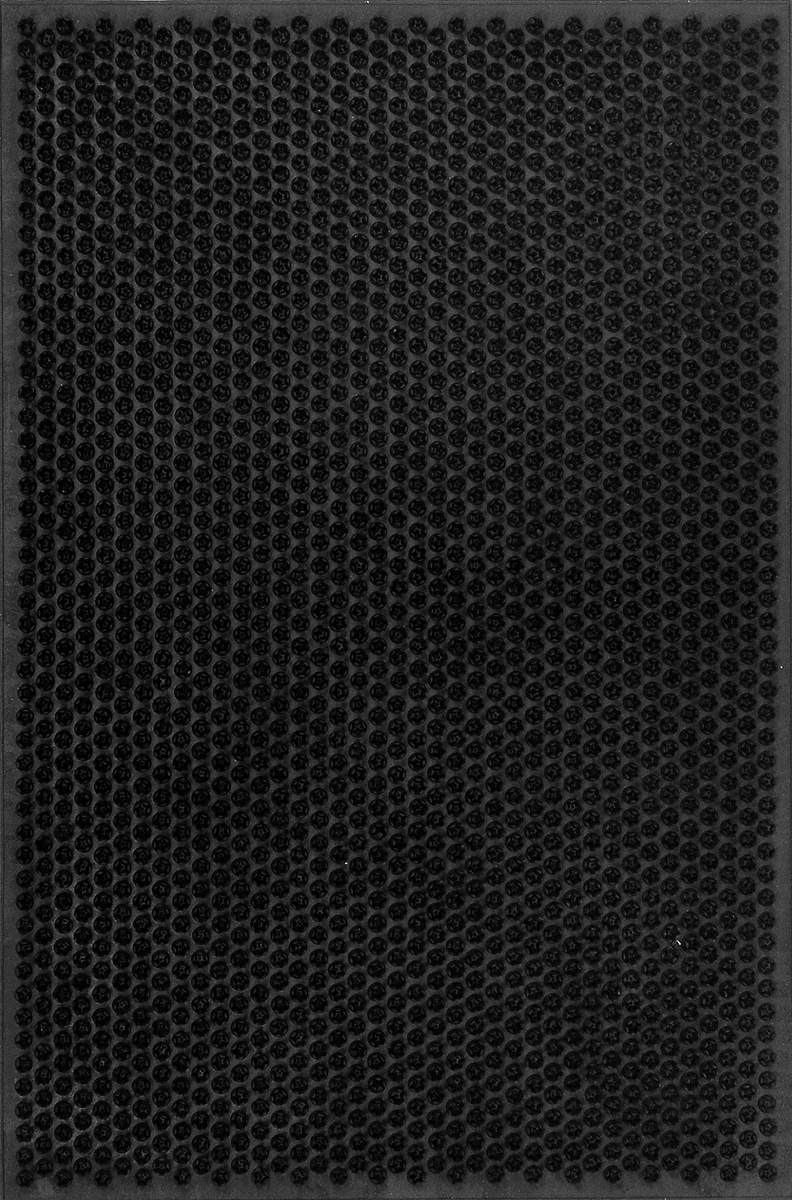 Коврик придверный SunStep Травка, цвет: черный, 60 х 40 см82155Придверный коврик SunStep Травка, выполненный из резины, прост в обслуживании, прочный и устойчивый. Конструкция коврика имеет специальную поверхность, которая помогает более эффективно удалить грязь с обуви. Его основа предотвращает скольжение по гладкой поверхности и обеспечивает надежную фиксацию. Такой коврик надежно защитит помещение от уличной пыли и грязи.