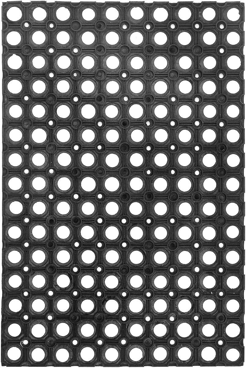 Коврик придверный SunStep, грязесборный, 60 х 40 смU210DFПридверный коврик SunStep изготовлен из прочной и долговечной резины. Конструкция коврика имеет специальные ребра, которые помогают более эффективно удалять грязь с обуви, а отверстия в конструкции удаляют излишки воды. Придверный коврик SunStep надежно защитит помещение от уличной пыли и грязи.