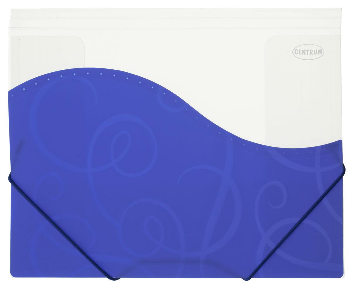 Centrum Папка на резинке цвет синий белый формат А414548_фиолетовыйПапка пластиковая на резинке Centrum станет вашим верным помощником дома и в офисе.Это удобный и функциональный инструмент, предназначенный для хранения и транспортировки больших объемов рабочих бумаг и документов формата А4. Папка изготовлена из износостойкого высококачественного пластика. Состоит из одного вместительного отделения. Закрывается папка при помощи прочной резинки.Папка - это незаменимый атрибут для любого студента, школьника или офисного работника. Такая папка надежно сохранит ваши бумаги и сбережет их от повреждений, пыли и влаги.