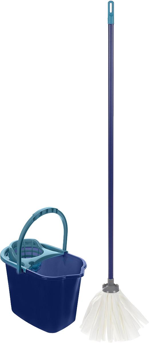 Набор для уборки York Mop Set, 3 предмета. 7202531-105Набор York предназначен для уборки любых типов напольных покрытий, включая паркет и ламинат.Специальная структура микроактивного волокна лепестковой насадки убирает даже сильные, затвердевшие загрязнения, не оставляя разводов и эффективно впитывает влагу. Благодаря специальному ведру со встроенным отжимом, уборка станет быстрой и гигиеничной, так как вы сможете выжимать швабру в предназначенном для этого ведре, не пачкая руки. Такой набор сделает уборку легкой и обеспечит идеальную чистоту вашего пола без разводов и царапин.Размер ведра по верхнему краю: 36 х 24,5 см.Высота ведра: 27 см.Объем ведра: 10 л.Длина черенка: 108 см.Диаметр черенка: 2 см.Средняя длина волокон лепестковой насадки: 19,5 см.Диаметр отверстия для черенка: 2 см.