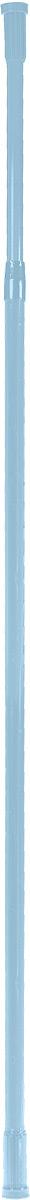Карниз для ванной комнаты Vanstore, телескопический, цвет: голубой, длина 110-200 см671-11Прямой телескопический карниз Vanstore изготовлен из алюминия. Устанавливается в распор между двумя стенами в ванных комнатах и любых других помещениях. Для установки карниза не требуются какие-либо крепежные элементы и дополнительные инструменты. Он фиксируется благодаря стержневой пружине. При необходимости легко снимается и может использоваться многократно. Длина карниза: 110-200 см.Диаметр карниза: 22 мм.