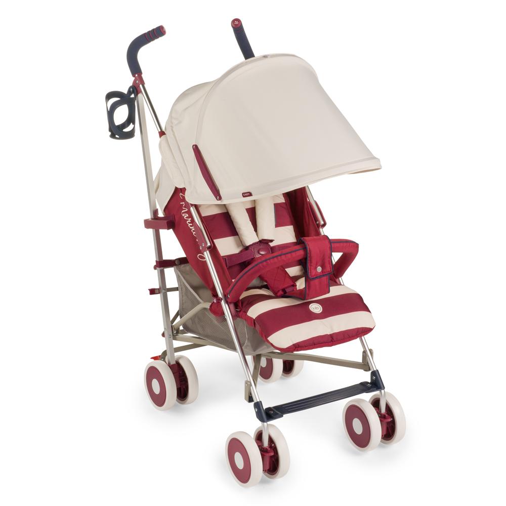 """Коляска """"Cindy Maroon"""" имеет оригинальный дизайн и высокую функциональность. Пятиточечные ремни имеют мягкие накладки, надежно и комфортно удерживая малыша в удобном для него положении. Козырек коляски можно при необходимости опустить низко, до самого бампера, что защитит ребенка от осадков и солнечного света. Модель комплектуется удобным дождевиком. Маневренность изделию придают поворотные колеса, а зафиксировать конструкцию в одном положении поможет расположенная на задних колесах тормозная система. Обивка является дышащей, что позволит малышу даже в изнуряющую жару чувствовать себя комфортно. Ткань мягкая и грязеотталкивающая, ее легко протирать обычными тряпками или губками. В сложенном виде коляска очень компактная и легкая, ее удобно взять с собой в любую поездку."""