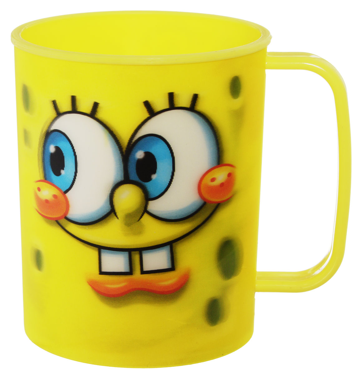 Губка Боб Кружка пластмассовая 3D цвет желтый 325 мл115510Детская кружка Губка Боб с 3D рисунком идеально подойдет для вашего малыша. Она выполнена из качественного пластика желтого цвета и оформлена ярким изображением героя мультфильма Губка Боб. Кружка дополнена удобной ручкой. Такой подарок станет не только приятным, но и практичным сувениром: кружка будет незаменимым атрибутом чаепития, а оригинальное оформление кружки добавит ярких эмоций в процессе чаепития. Не предназначено для использования в СВЧ-печи и посудомоечной машине.