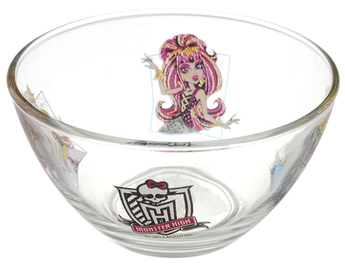 Monster High Салатник детский диаметр 12,5 см15839_розовыйЯркий салатник Monster High идеально подойдет для кормления малыша и самостоятельного приема им пищи. Салатник выполнен из стекла и оформлен высококачественным изображением героев мультфильма Monster High.Такой подарок станет не только приятным, но и практичным сувениром, добавит ярких эмоций вашему ребенку! Не предназначено для использования в посудомоечной машине.
