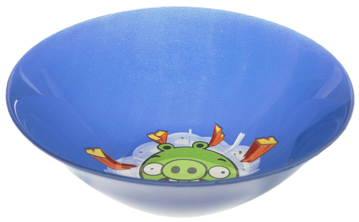 Angry Birds Салатник детский цвет синий диаметр 14 см115510Яркий салатник Angry Birds идеально подойдет для кормления малыша и самостоятельного приема им пищи. Салатник выполнен из стекла и оформлен высококачественным изображением героя знаменитой игры Angry Birds.Такой подарок станет не только приятным, но и практичным сувениром, добавит ярких эмоций вашему ребенку! Можно использовать в посудомоечной машине.