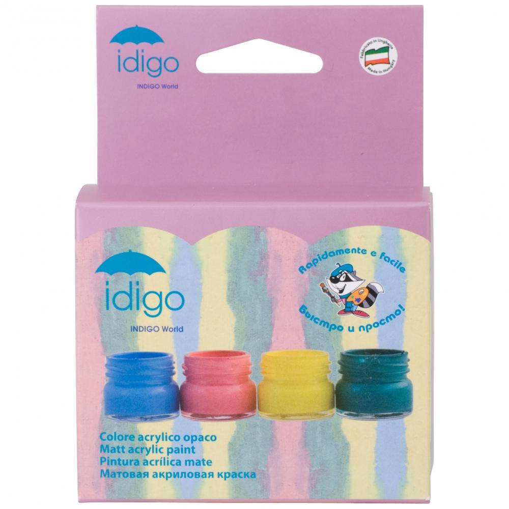 Акрил матовый 4 цвета по 25 мл (голубой, бирюзовый, розовый, желтый)FS-00102Набор акриловых красок Idigo используется для декорирования поверхностей из стекла, керамики, дерева, пластика, картона, металла, кожи и текстиля. Краска на водной основе легко и ровно ложится, высыхает в течение 5-7 минут и после высыхания становится несмываемой. Наносится с помощью мягкой кисти, которую, после окончания работ, следует тщательно промыть водой. При попадании на руки, легко смывается теплой водой с мылом. При загустении краски ее легко можно разбавить, добавив несколько капель воды. В набор входят четыре баночки с краской голубого, бирюзового, розового, желтого цветов. Все цвета смешиваются между собой для получения новых оттенков и эффекта разводов. Характеристики:Объем баночки с краской:25 мл. Изготовитель:Венгрия.Компания Idigo- итальянский производитель товаров для школы и детского творчества, имеющий производство в Италии, Испании и Венгрии. В линейке продукции для детского творчества и товаров для декорирования вы найдете инновационные и уникальные продукты, которые никого не оставят равнодушным.