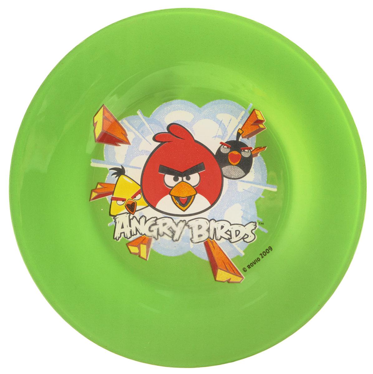 Angry Birds Тарелка детская цвет зеленый диаметр 19,5 смID65662Яркая тарелка Angry Birds идеально подойдет для кормления малыша и самостоятельного приема им пищи. Тарелка выполнена из закаленного стекла и оформлена высококачественным изображением героев игры Angry Birds.Такой подарок станет не только приятным, но и практичным сувениром, добавит ярких эмоций вашему ребенку! Можно использовать в посудомоечной машине.