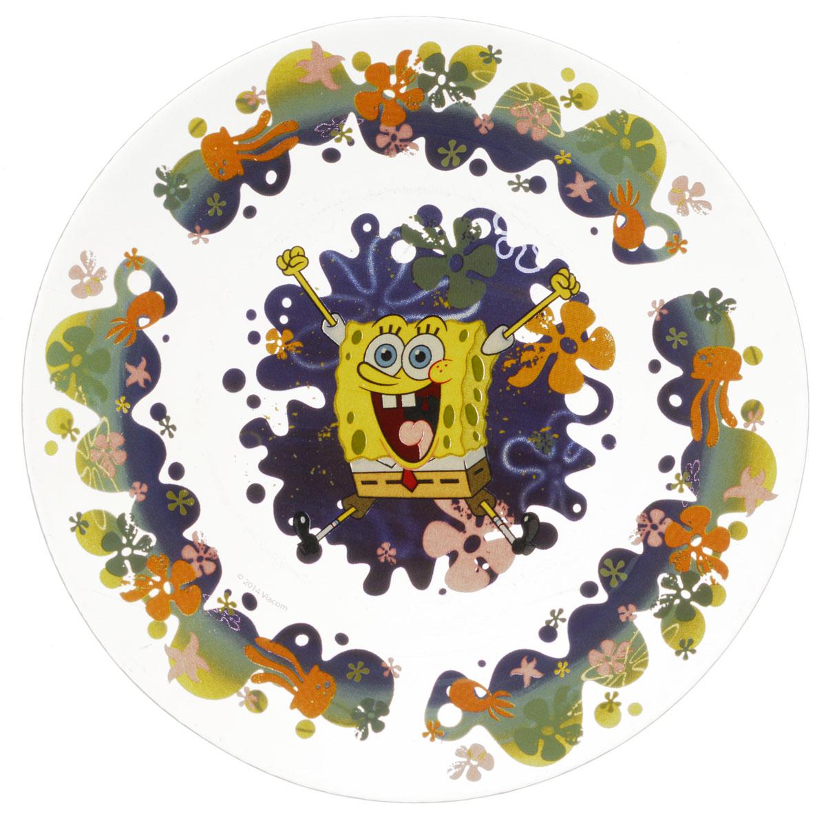 Губка Боб Тарелка детская Водный мир диаметр 19,5 см54 009312Яркая тарелка Губка Боб Водный мир идеально подойдет для кормления малыша и самостоятельного приема им пищи. Тарелка выполнена из стекла и оформлена высококачественным изображением героя мультфильма Губка Боб.Такой подарок станет не только приятным, но и практичным сувениром, добавит ярких эмоций вашему ребенку! Можно использовать в посудомоечной машине.