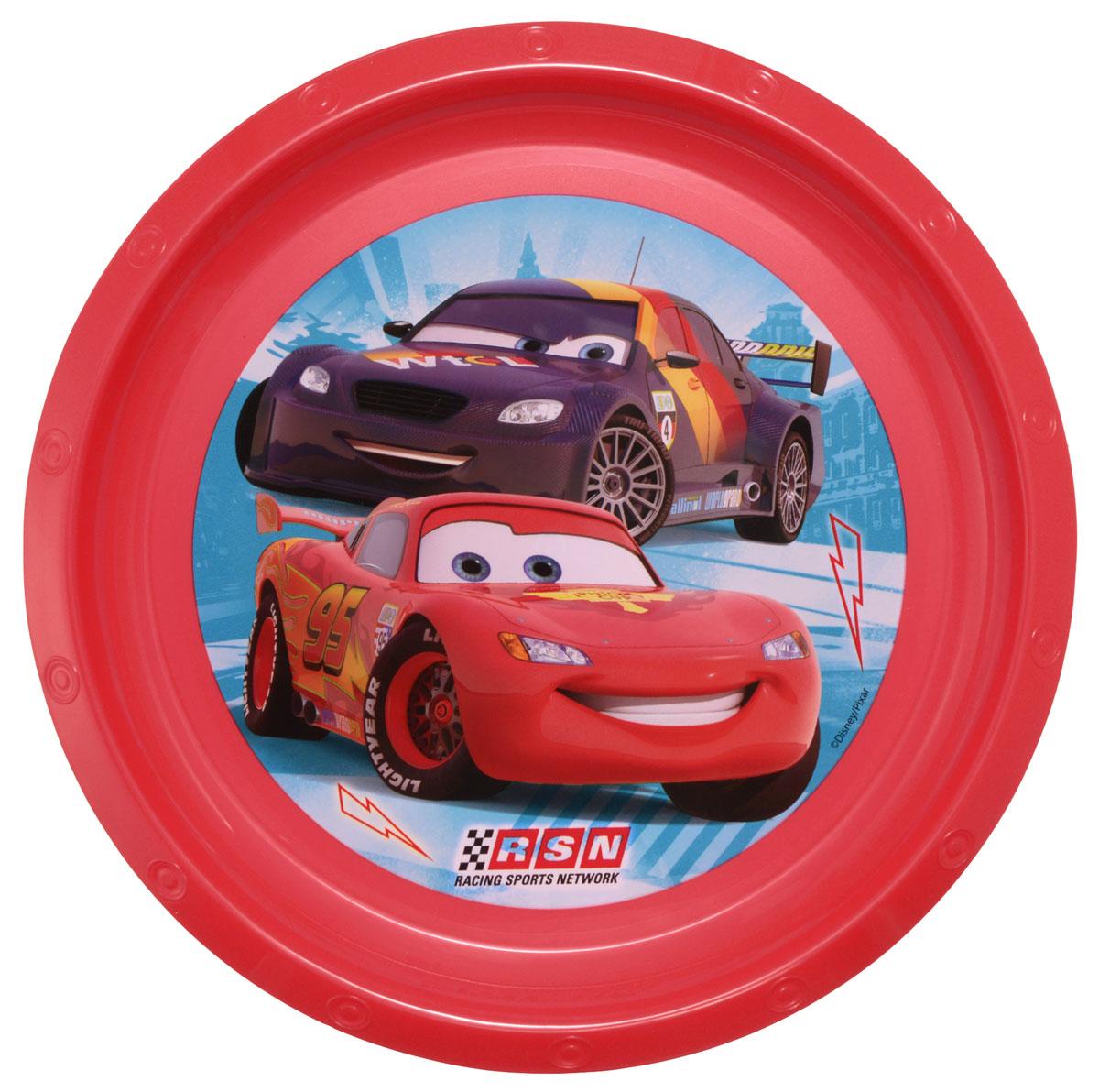 Disney Тарелка детская Тачки диаметр 21,5 см115510Яркая тарелка Disney Тачки идеально подойдет для кормления малыша и самостоятельного приема им пищи. Тарелка выполнена из безопасного полипропилена, дно оформлено высококачественным изображением героев мультфильма Тачки.Такой подарок станет не только приятным, но и практичным сувениром, добавит ярких эмоций вашему ребенку! Не предназначено для использования в СВЧ-печи и посудомоечной машине.