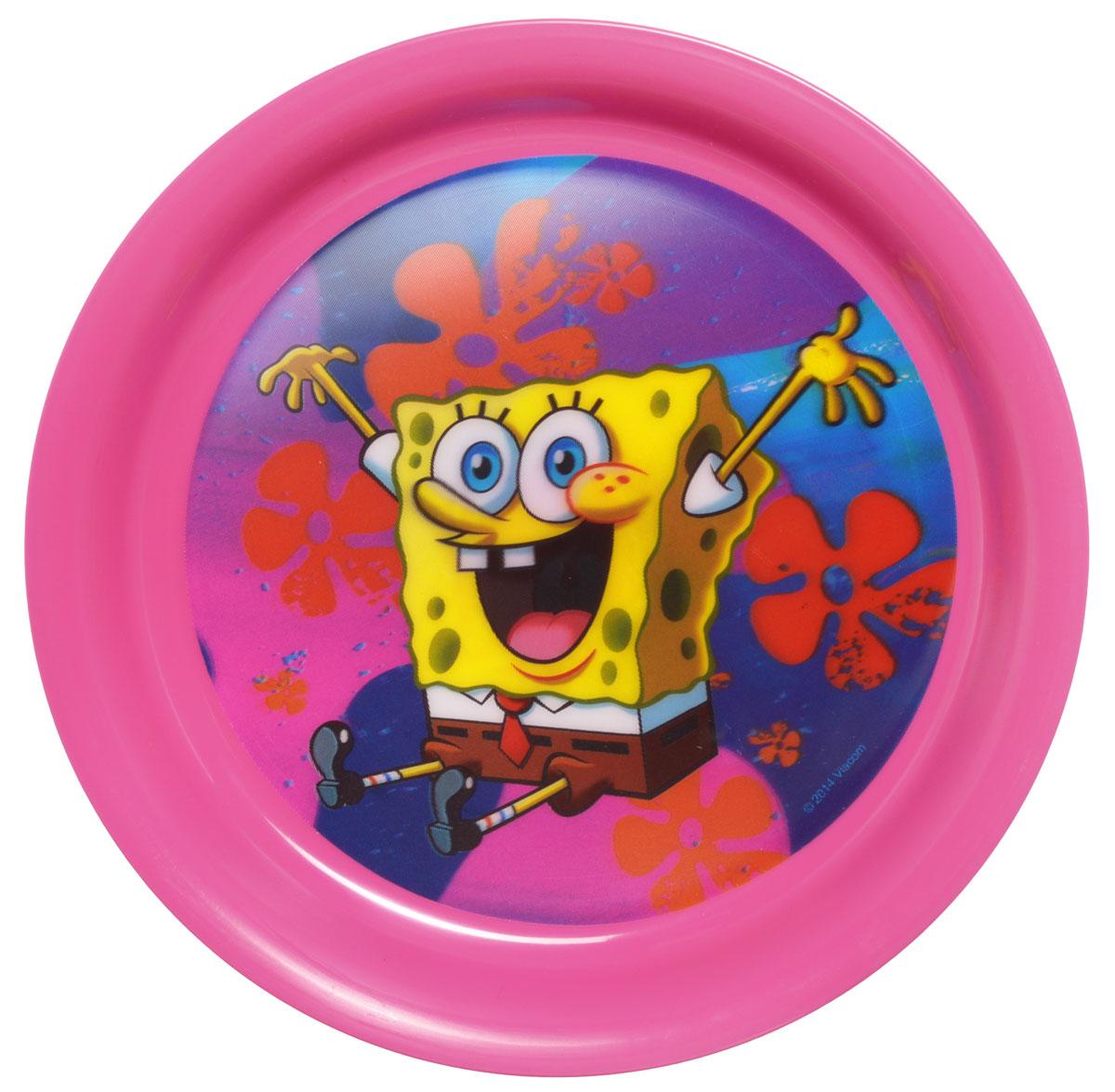 Губка Боб Тарелка детская 3D цвет розовый диаметр 19 смКРС-259Яркая тарелка Губка Боб с 3D рисунком идеально подойдет для кормления малыша и самостоятельного приема им пищи. Тарелка выполнена из безопасного полипропилена розового цвета, дно оформлено объемным изображением улыбающегося Губки Боба из одноименного мультсериала. Такой подарок станет не только приятным, но и практичным сувениром, добавит ярких эмоций вашему ребенку! Не предназначено для использования в СВЧ-печи и посудомоечной машине.