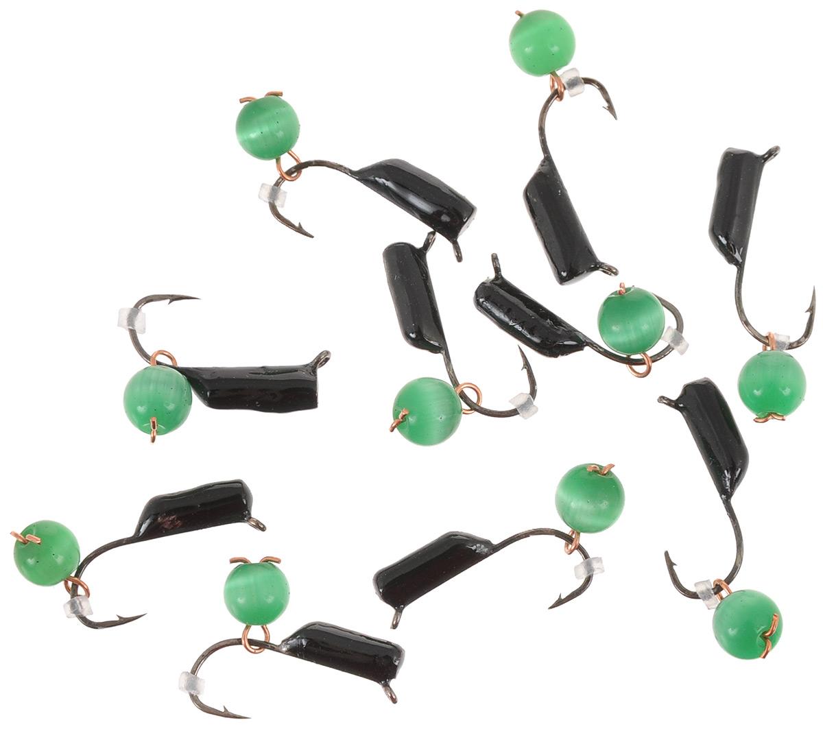 Мормышка вольфрамовая True Weight Кошачий глаз, подвес, цвет: зеленый, диаметр 2 мм, 10 шт49638Безнасадочная мормышка True Weight Кошачий глаз изготовлена из вольфрама и оснащена крючком. Главное достоинство вольфрамовой мормышки - большой вес при малом объеме. Эта особенность дает большие преимущества при ловле, так как позволяет быстро погрузить приманку на требуемую глубину и лучше чувствовать игру мормышки.Диаметр мормышки: 2 мм.