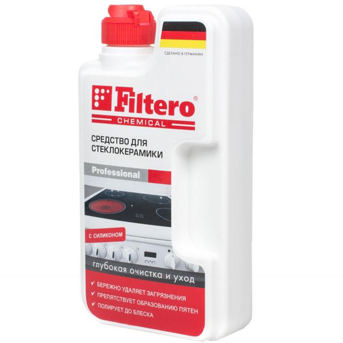 Filtero средство для чистки стеклокерамики, 250 мл202Средство для стеклокерамики Filtero обеспечивает глубокую очистку и уход. Оно предназначено для комплексного ухода за стеклокерамическими плитами: эффективное очищение, защита и блеск. Попадая на поверхность, активные вещества моментально проникают в загрязнения, что позволяет мягко и без усилий удалить их, не оставляя царапин.Процесс очистки стеклокерамической панели всегда был сложным и трудоемким. Но благодаря средству для очистки стеклокерамики Filtero все сложности в прошлом. Попадая на поверхность, активные вещества моментально проникают в загрязнения, что позволяет мягко и без усилий удалить их, не оставляя царапин. Силиконовое масло оставляет тонкую защитную пленку, препятствуя образованию пятен. Специальный компонент позволяет легко отполировать поверхность. Результат: безупречная чистота, блеск и продолжительная защита стеклокерамической плиты.